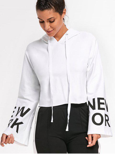 fashion New York Cropped Hoodie - WHITE M Mobile