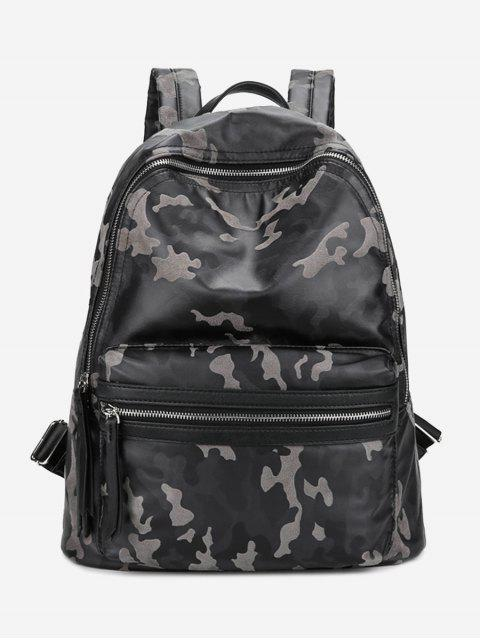chic PU Leather Camouflage Pattern Backpack -   Mobile
