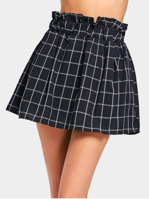 affordable High Waisted Mini Checked Skirt - CHECKED ONE SIZE Mobile