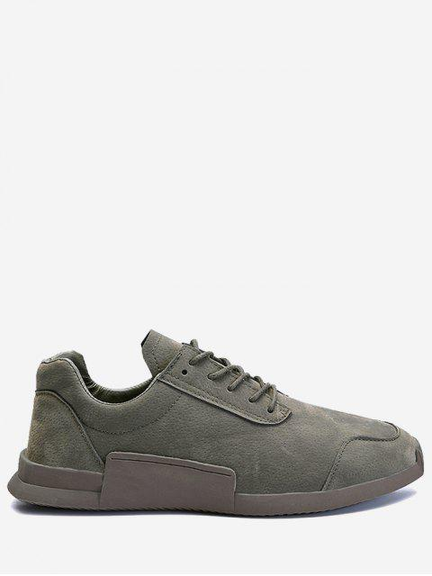Round Toe Tie Up Sneakers - gris 41 Mobile