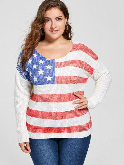 Image of Plus Size American Flag Sweater