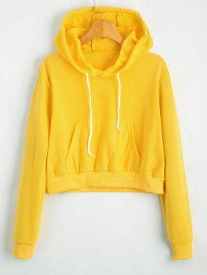 Abgeschnitten Pullover mit Fronttasche