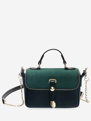 Chain Zip Metal Handbag