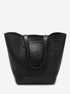 PU Leather Embossed Pattern Shoulder Bag
