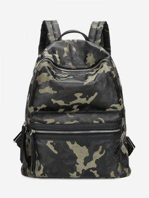 PU Leather Camouflage Pattern Backpack