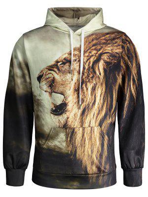 Lion Print Hoodie
