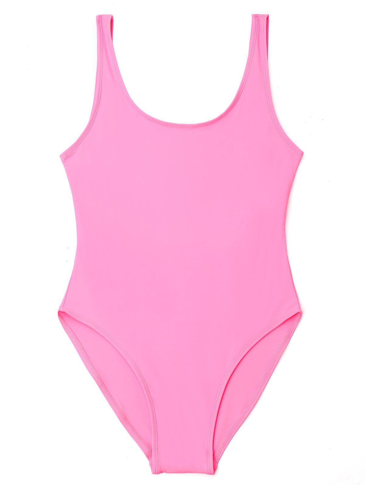 U Back High Cut One Piece Swimwear