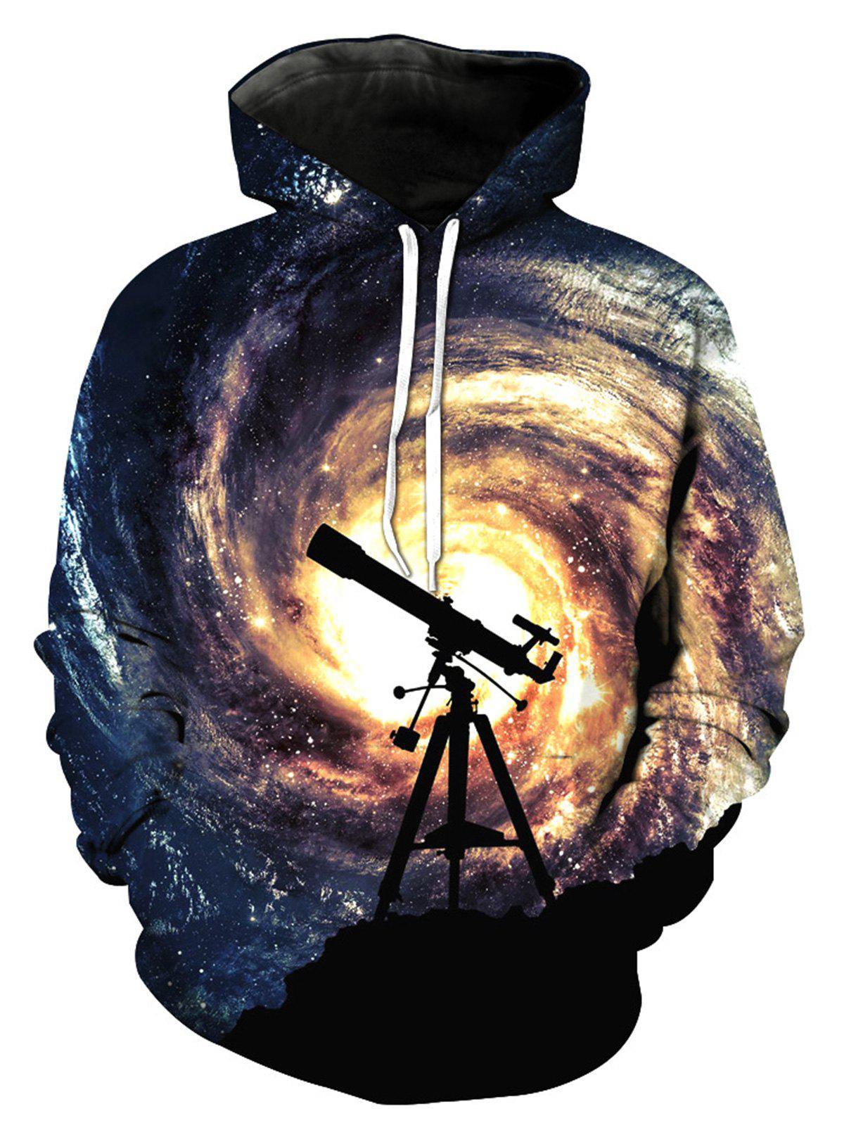 Pull à capuche imprimé à imprimé Galaxy de Telescope 3D