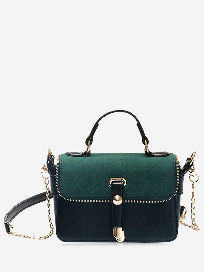 Chain Zip Metal Handbag 228121802