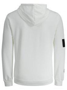 La 2xl Logotipo Blanco De Bolsillo Letra Sudadera De UqqaAS
