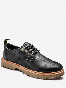 فو الجلود والجلود حتى أدنى الأحذية عارضة أعلى - أسود 39