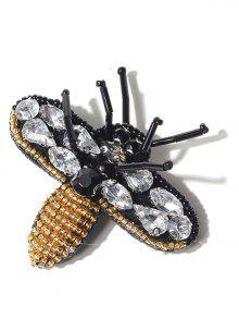 حجر الراين الديكور النحلة بروش - أسود