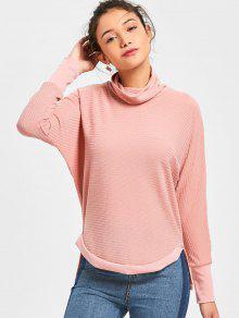 Suéter Con Cuello De Cisne - Rosa S