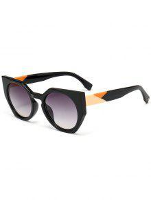 مكافحة الأشعة فوق البنفسجية الإطار الكامل فراشة النظارات الشمسية - رمادي