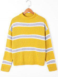 Suéter De Cuello De Tortuga - Amarillo L