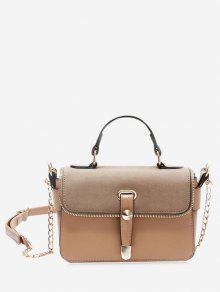 سلسلة البريدي حقيبة يد معدنية - كاكي