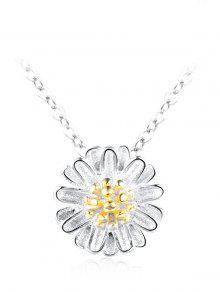 Collar De Collarbone Floral De Plata Esterlina - Plata