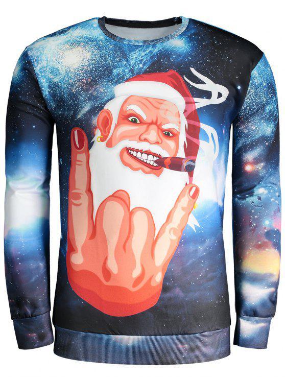 Sudadera divertida de la Navidad - Colores Mezclados L