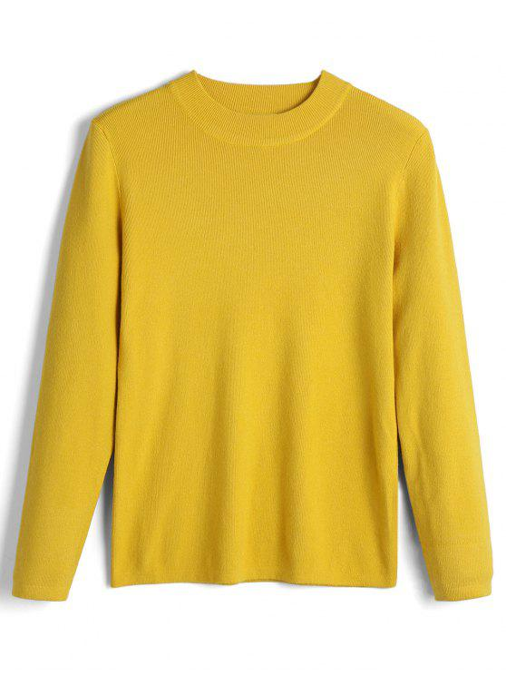 Long Sleeve Bow Tied Pullover Sweater YELLOW: Sweaters ONE SIZE ...