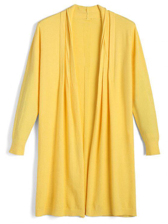 Long Open Front Knit Cardigan YELLOW: Sweaters ONE SIZE | ZAFUL