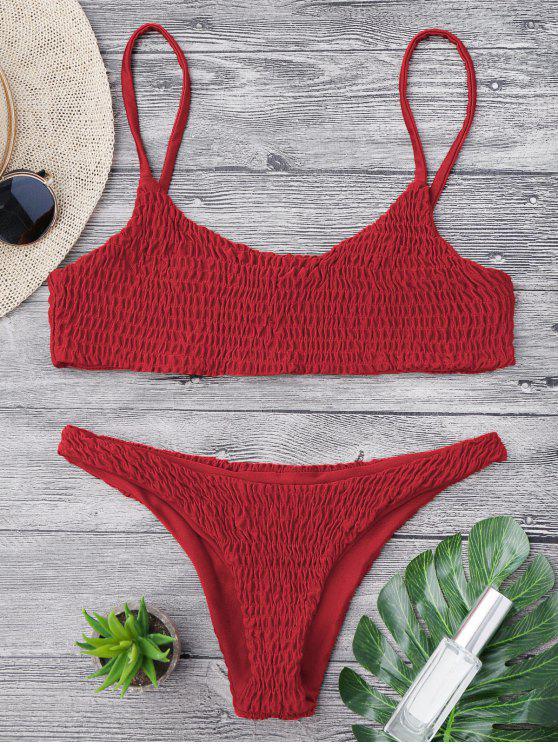 Bikini y parte superior desgastados de bikini - Rojo S