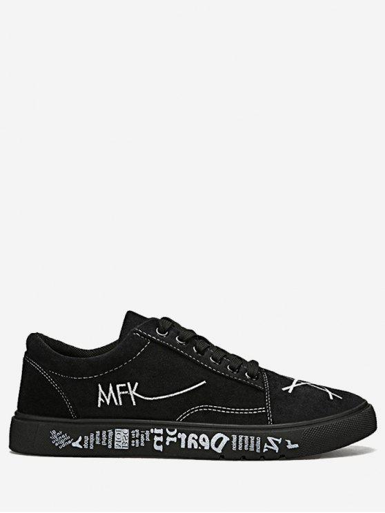 المنخفضة أعلى إلكتروني حذاء قماش - أسود 40