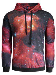 Colorful Galaxy Print Hoodie - L