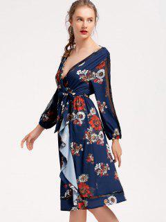 Robe à Manches Longues - Bleu Violet S