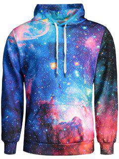 Mens Colorful Galaxy Hoodie - L