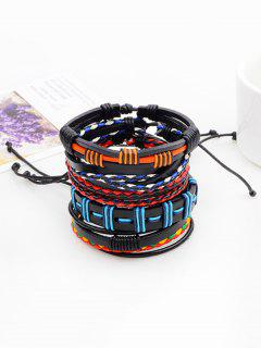 Bohemian Layered Faux Leather Woven Bracelet