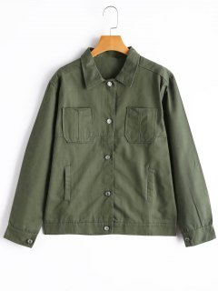 Button Up Field Jacket - Army Green