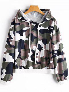 Kangaroo Pocket Camo Hoodie - Camouflage M