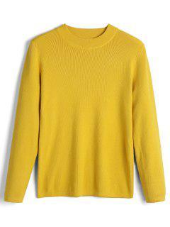 Langer Hülsen-Bogen Gebundener Pullover-Strickjacke - Gelb