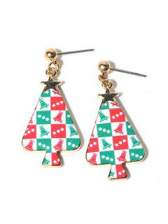 Christmas Tree Star Earrings