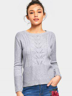 Ensemble De Tricot à Câlins Bowknot Applique Sweater - Gris