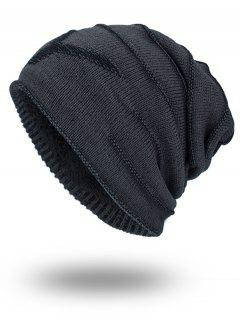 Double-Deck Thicken NY Knit Hat - Dark Grey