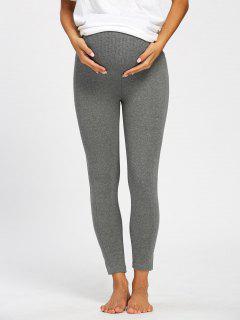 High Waist Ninth Pregnant Pants - Gray 2xl