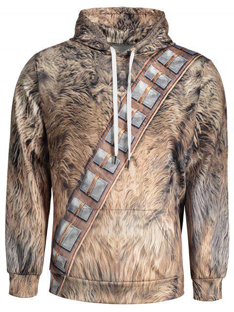 online Fur Print Mens Hoodie - COLORMIX L Mobile