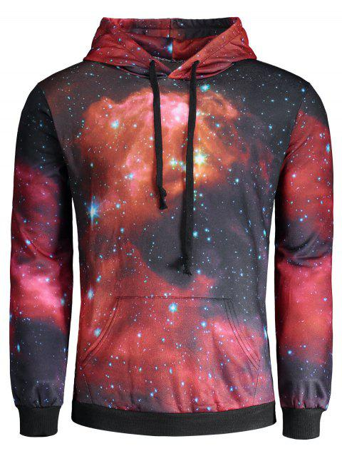 latest Colorful Galaxy Print Hoodie - COLORMIX L Mobile