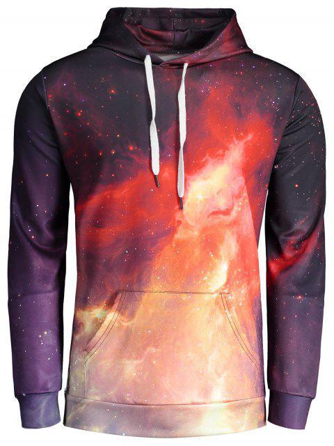 Sudadera con capucha de la impresión del fuego - Colores Mezclados L Mobile