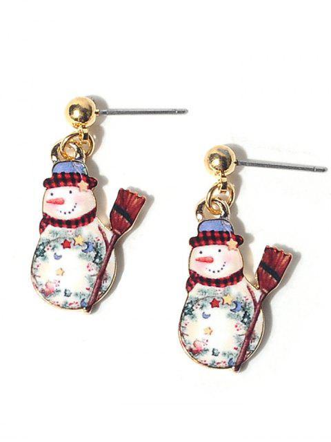 Aleación de bolas de Navidad muñeco de nieve pendientes - Colormix  Mobile