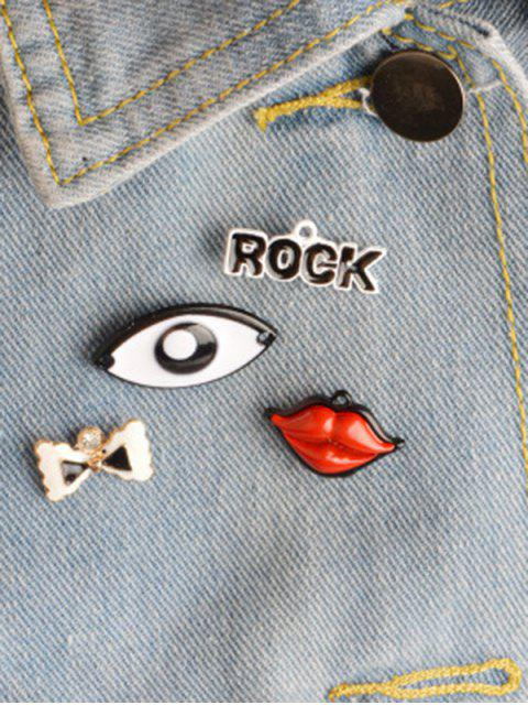 Rock Arcos Ojo Lips broche Set - Colormix  Mobile