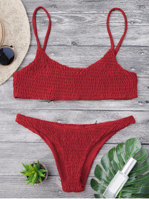 Bikini y parte superior desgastados de bikini - Rojo S Mobile