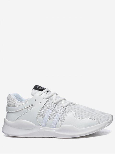 Runde Toe Low Top Mesh Sneakers - Weiß 42 Mobile