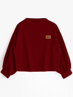 Badge Gepatchtes Lanternhülse Sweatshirt