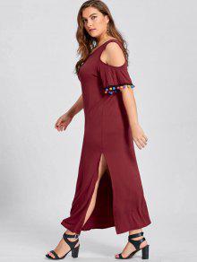 Red plus size maxi dress