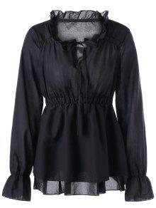 Colgante Collar Peplum Blusa - Negro 2xl