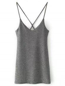 فستان مصغر مطرز بالترتر - فضة M