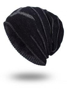 الطابقين رشاقته ني متماسكة قبعة - أسود