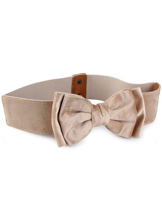 outfits Vintage Bowknot Embellished Elastic Waist Belt - BEIGE
